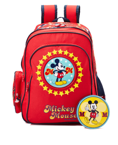 DISNEY Back to School Mickey Mouse Print Backpack