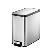 EKO Home & Kitchen EKO Eco-Slim 8 Liter/2.1 Gallon Vertical Stainless Steel Step Waste Bin
