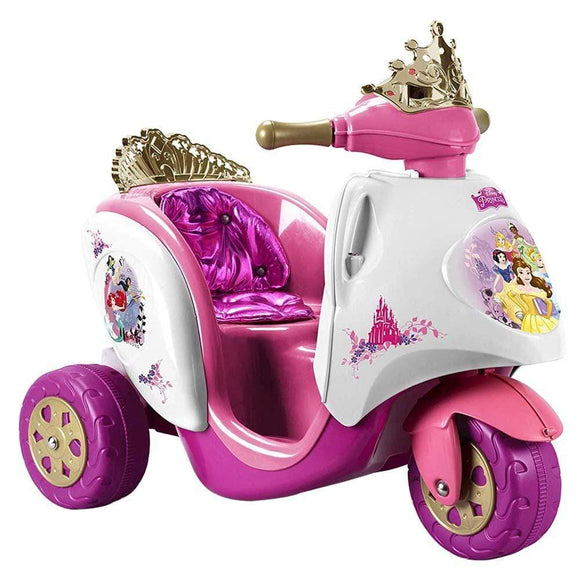 Feber Toys Feber - Disney Princess 6V Scooty Ride On - Pink