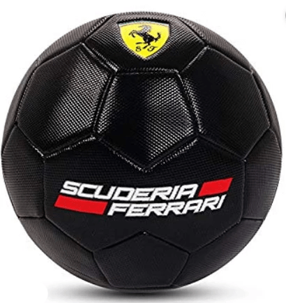 Ferrari Toys Ferrari Machine Sewing Soccer Ball - F666 - Size #5 - Black