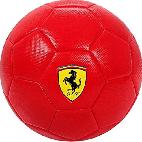 Ferrari Toys Ferrari Machine Sewing Soccer Ball - F666 - Size #5 - Red