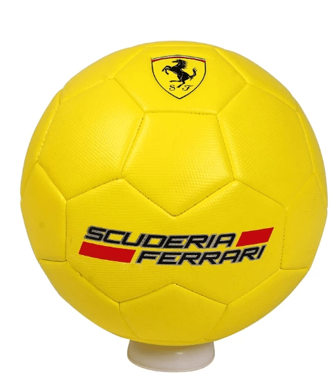 Ferrari Toys Ferrari Machine Sewing Soccer Ball - F666 - Size #5 - Yellow