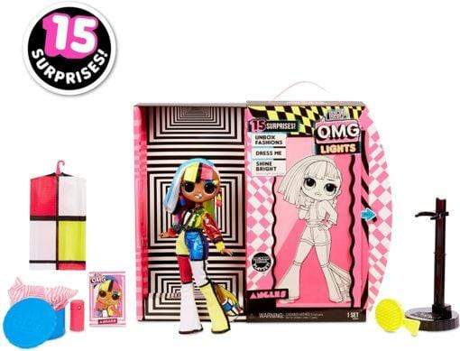 Generic Toys L.O.L. Surprise! O.M.G. Lights Angles Fashion Doll with 15 Surprises 565178