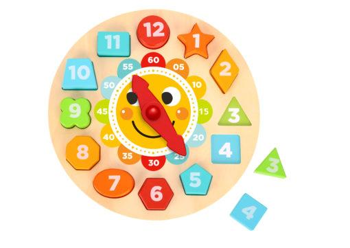 Generic Toys Tooky Toy – Clock Puzzle. Educational wooden toy