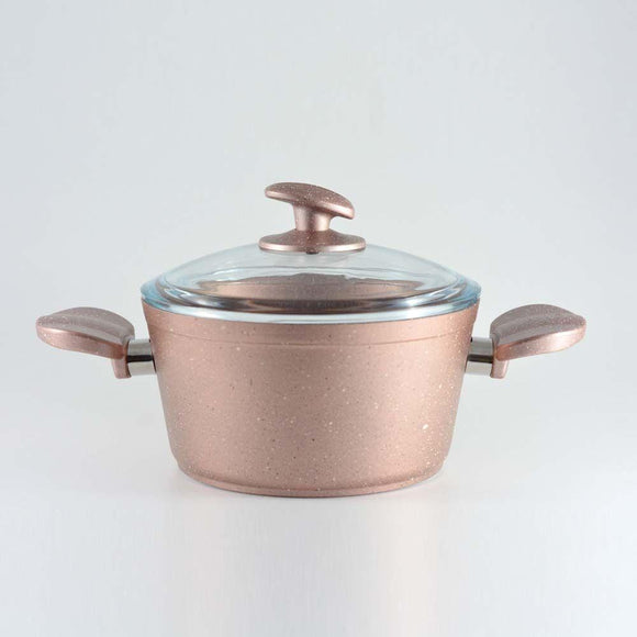 Homemaker Home & Kitchen Granitec Rose Gold Casserole 20 cm - (G-RGC-20)