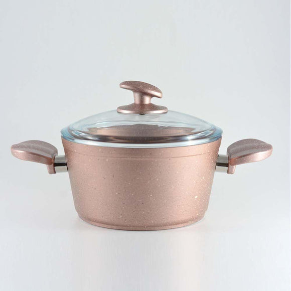 Homemaker Home & Kitchen Granitec Rose Gold Casserole 22 cm - (G-RGC-22)
