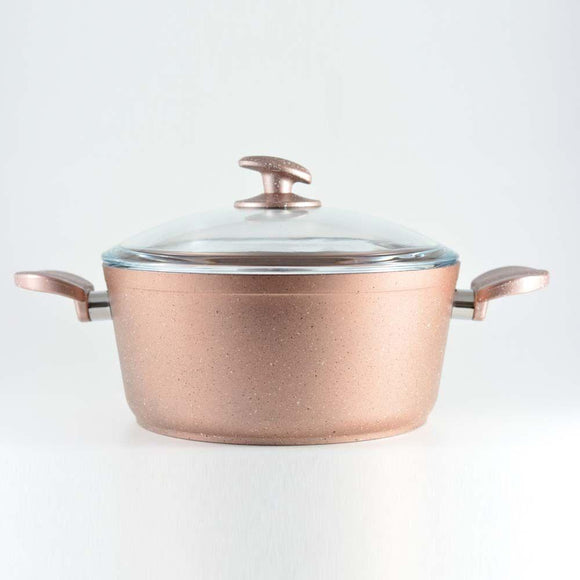 Homemaker Home & Kitchen Granitec Rose Gold Casserole 26 cm - (G-RGC-26)
