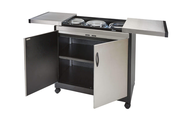 Hostess Appliances Hostess - Food Warmer Trolley, Brushed Stainless, HL6232BS