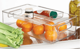 InterDesign Beauty InterDesign 2pc Kitchen Bin with Removable Divided Tray for Food Storage, Clear