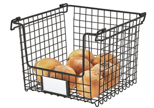 InterDesign Home & Kitchen InterDesign Classico Stackable Storage Basket (Large)