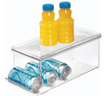 InterDesign Home & Kitchen InterDesign Soda Can Holder for Refrigerator, Kitchen Cabinet, Pantry - Clear