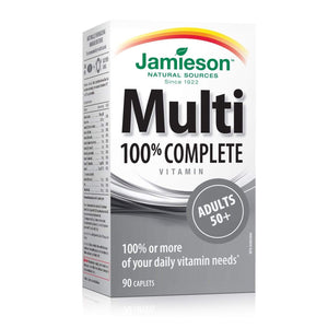 Jamieson Beauty 100% COMPLETE MULTIVITAMIN | ADULTS 50+ 90 CAPLETS
