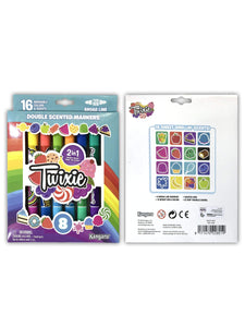 Kangaru Toys TWIXIE™  SCENTED     8ct Double Ended Broadline Markers – 16 Colors