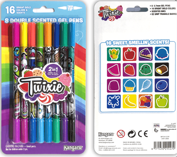 Kangaru Toys TWIXIE™  SCENTED      8ct Double Ended Gel Pens – 16 Colors