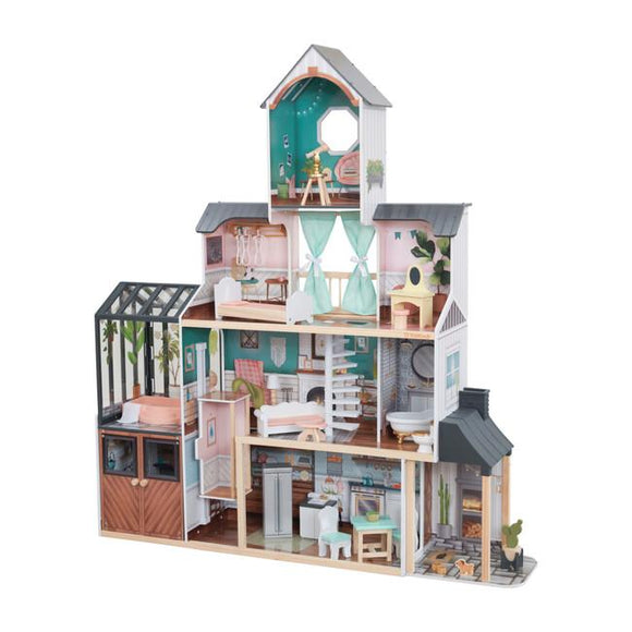 KidKraft Toys KidKraft Celeste Mansion Dollhouse with EZ Kraft Assembly - Multicolour
