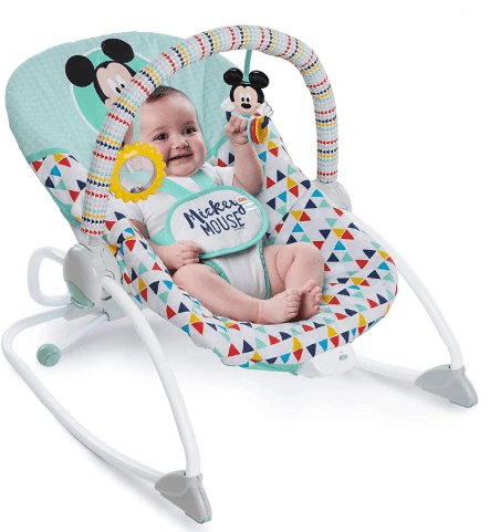 Kids II Babies MICKEY MOUSE HAPPY TRIANGLES INFANT TO TODDLER ROCKER ™