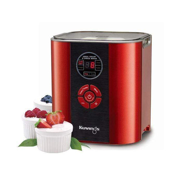 Kuvings Appliances Kuvings Yogurt and Cheese Maker, Red
