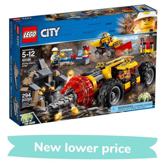 LEGO Toy LEGO City Mining Heavy Driller (294 Pieces)