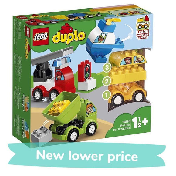 LEGO Toy LEGO Duplo My First Car Creations (34 Pieces)