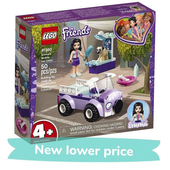 LEGO Toy LEGO Friends Emma's Mobile Vet Clinic (50 Pieces)