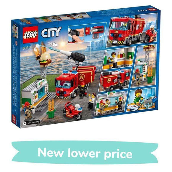 LEGO toys LEGO City Burger Bar Fire Rescue (327 Pieces)