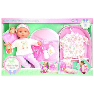 Lotus Onda toys Lil Rock-a-Bye Baby Doll with Backpack & Wardrobe