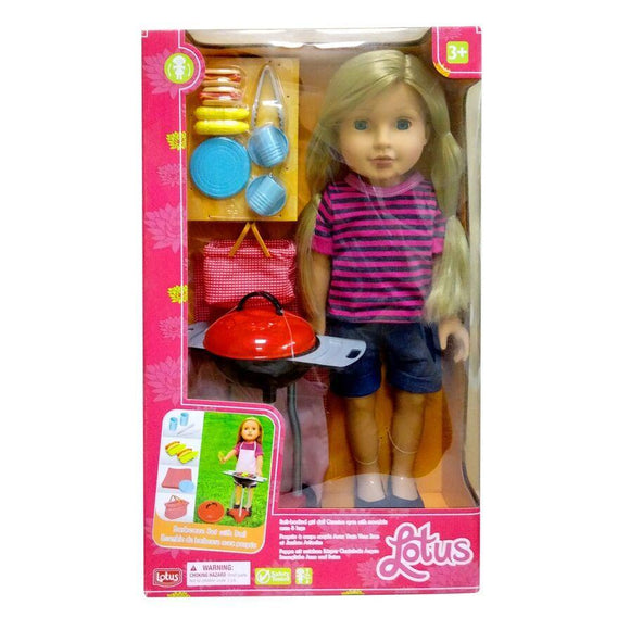 Lotus toys Lotus Barbecue Set with Doll