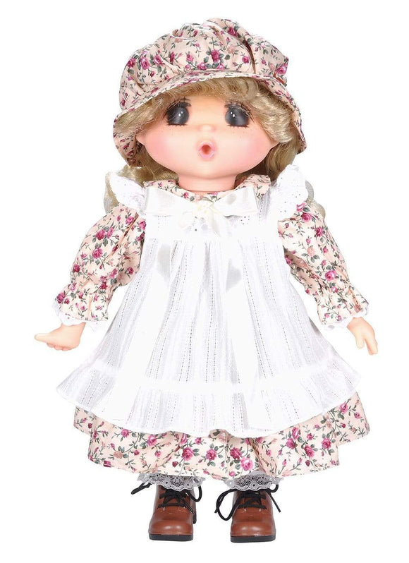 Lotus Toys Soft-bodied Blonde Doll in Floral Dress (38 cm)
