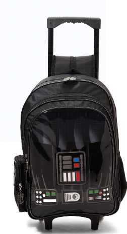 LUCAS Back to School Dart Vader Print Trolley Backpack