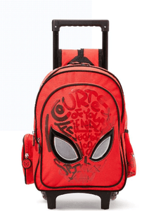 MARVEL Back to School Spider Man Print Trolley Backpack