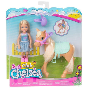 Mattel toys Barbie Club Chelsea Doll & Horse Set
