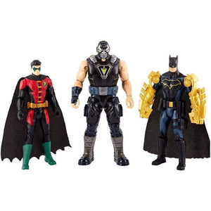Mattel toys Batman Mission Batman and Robin vs. Bane 3-Pack Figures (15 cm)