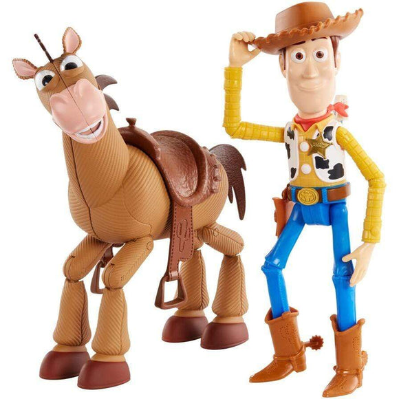 Mattel toys Toy Story 4 Woody & Bullseye Figures (Pack of 2)