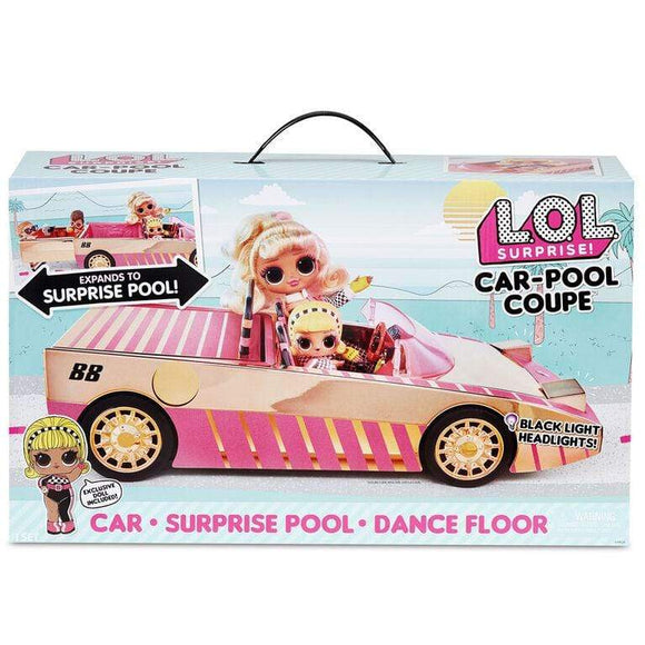 MGA Entertainment Toys L.O.L. Surprise! Car-Pool Coupe with Exclusive Doll, Surprise Pool & Dance Floor