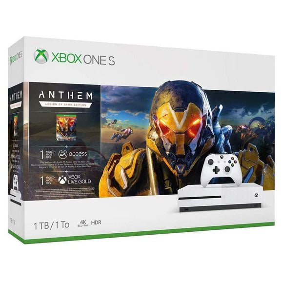 Microsoft Gaming Console Xbox One S 1TB Anthem Bundle