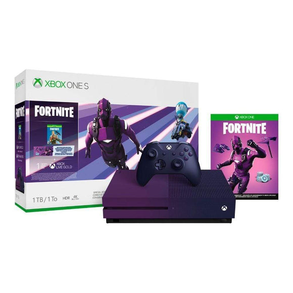 Microsoft Gaming Console Xbox One S 1TB Fortnite Purple Limited Edition Console