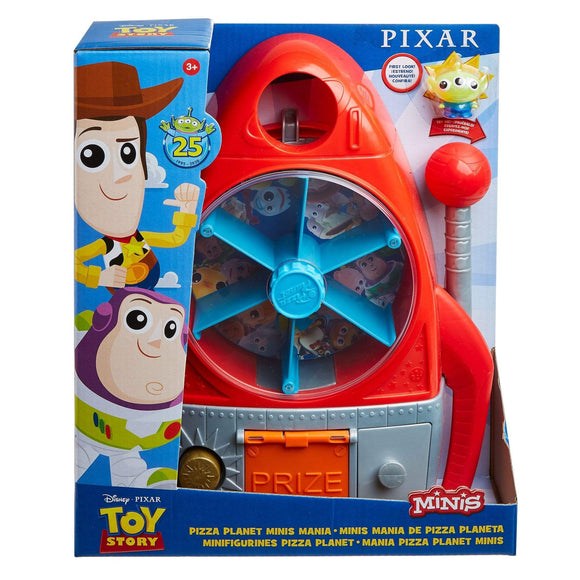 MOVIE MERCHANDISE TOY STORY 4 Toys TOY STORY MINIS PIZZA PLANET SLOT MACHINE PLAYSET