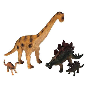National Geographic toys Nat Geo 4-Piece Brachiosaurus and Stegosaurus Dinosaur Play Set