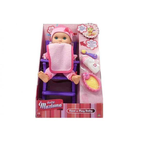 New Adventure toys Feed & Play Baby Doll with Accessories