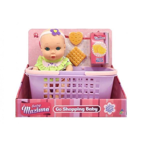 New Adventure toys Go Shopping Baby Doll with Accessories