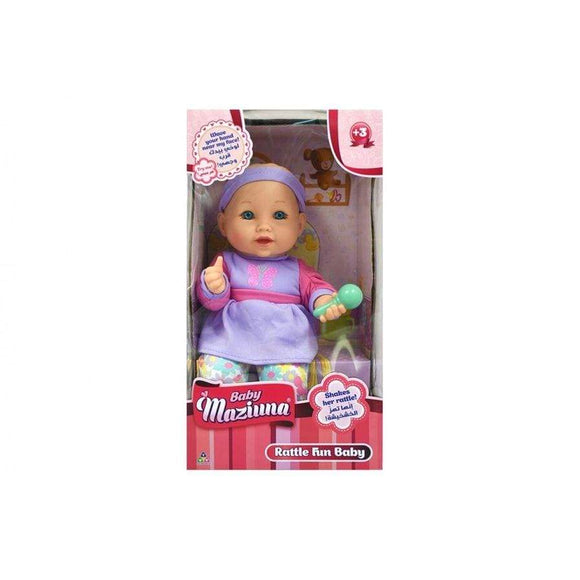 New Adventure toys Rattle Fun Baby Doll (33 cm)