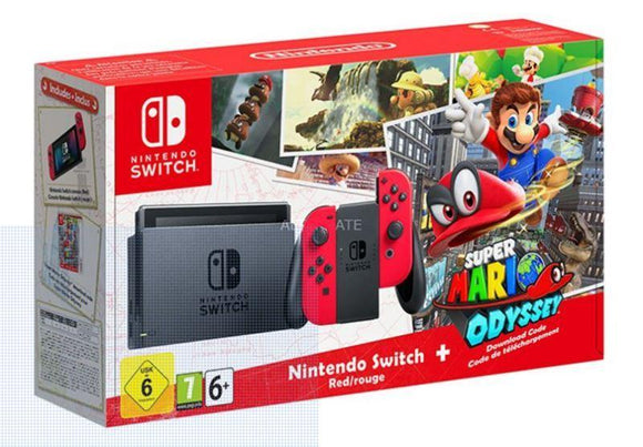 Nintendo Gaming Console Nintendo Switch Console Super Mario Odyssey Edition With Joy-Con Controllers