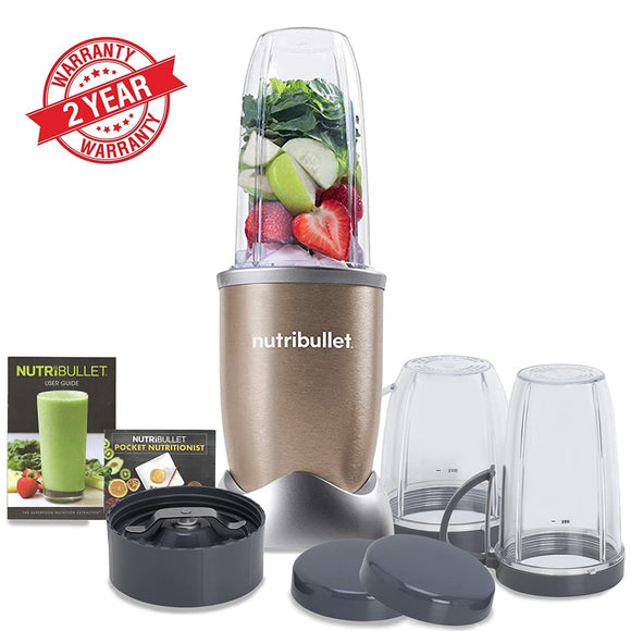 Nutribullet Appliances Nutribullet Pro12 Piece High Speed Blender Mixer System 900 Watts - Copper Gold