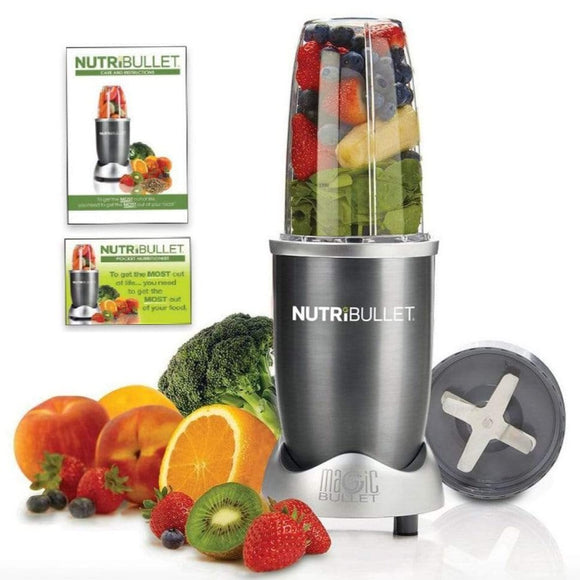 Nutribullet Home & Kitchen Nutribullet 5 Piece High Speed Blender Mixer System 600 Watts - Grey