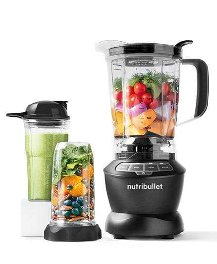 Nutribullet Home & Kitchen Nutribullet Full Size Blender + Combo 9 Piece High Speed Blender Mixer System 1000 Watts - Dark Grey