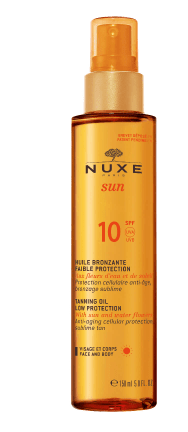 Nuxe Beauty NUXE Sun Tanning Oil Face and Body SPF 10 (150ml) - Exclusive