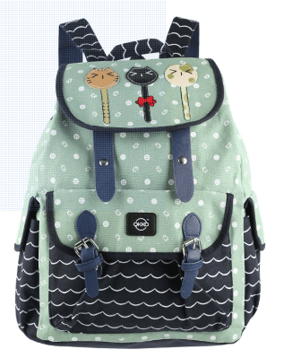 OKKO Back to School Classic Printed Backpack