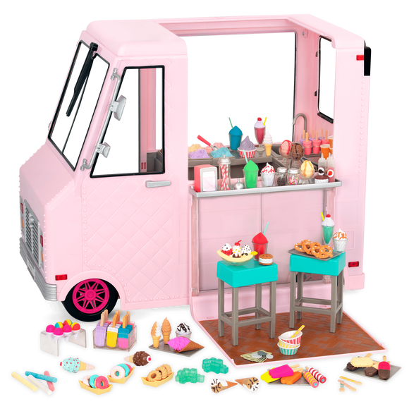 Our Generation Toys Our Generation Sweet Stop Ice Cream Truck  Pink