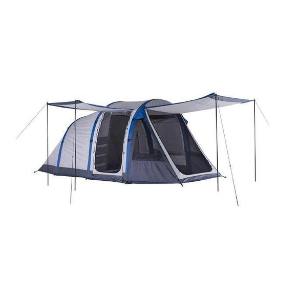 Oztrail Tents OZTRAIL Air Pillar 4V Dome Tent - Blue/Grey | 4 Person Capacity | Silver Coated UVTex 2000 Sun Tough Fly Fabric