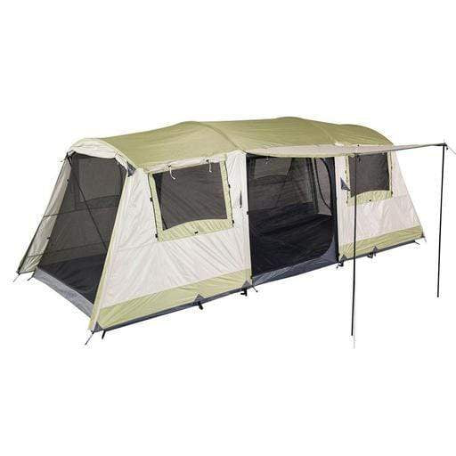 Oztrail Tents OZTRAIL Bungalow 9 Dome Tent | 9 Person Capacity | Silver Coated UVTex 2000 Sun Tough Fly Fabric